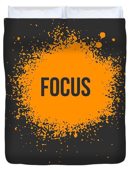 Focus Splatter Poster 3 Duvet Cover by Naxart Studio