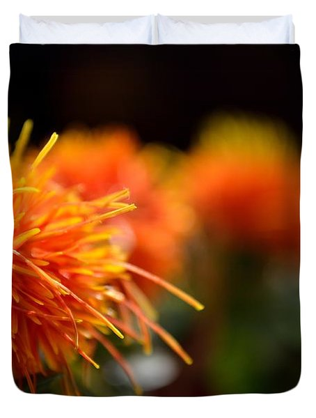 Focused Safflower Duvet Cover by Scott Lyons