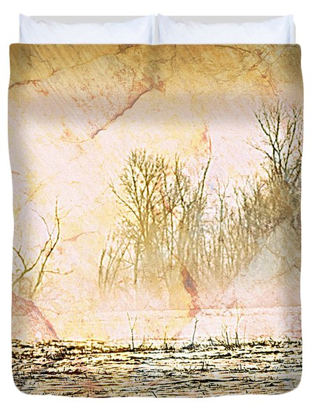 Fog Abstract 4 Duvet Cover by Marty Koch
