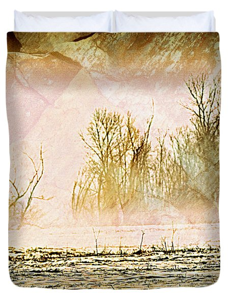Fog Abstract 5 Duvet Cover by Marty Koch