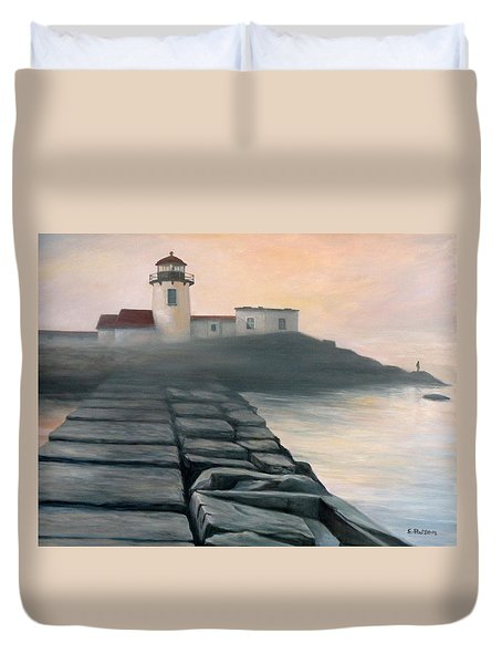 Fog Burning Off Duvet Cover by Eileen Patten Oliver