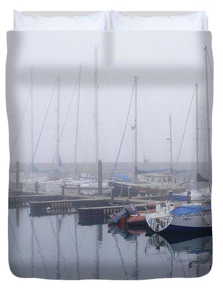 Fog In Marina I Duvet Cover