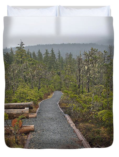 Fog On The Trail Duvet Cover