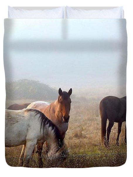 Fog Ponies Duvet Cover