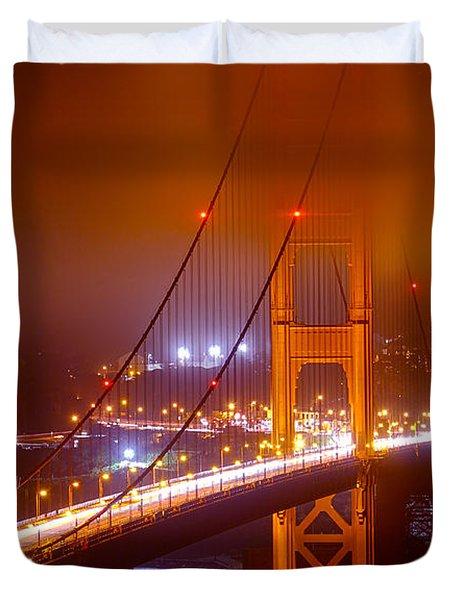Foggy Golden Gate Duvet Cover