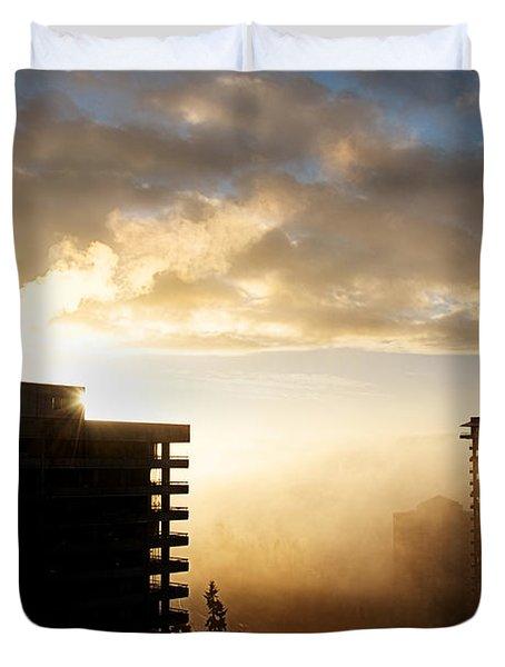 Foggy Morn Duvet Cover by Lisa Knechtel