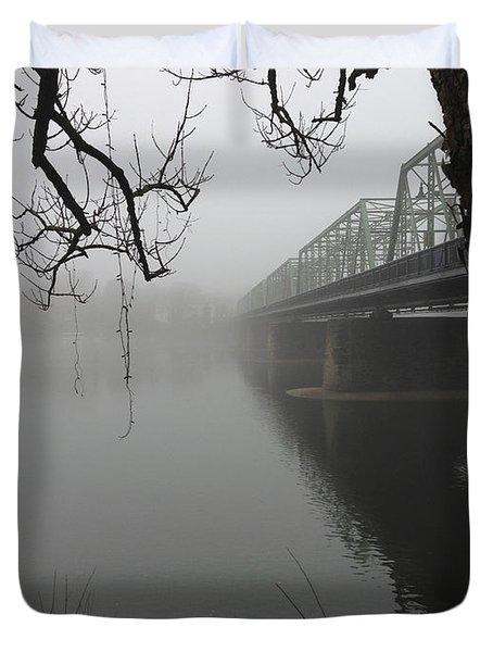 Foggy Morning In Paradise - The Bridge Duvet Cover