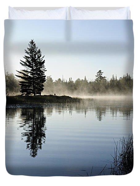 Foggy Morning Duvet Cover by Larry Ricker