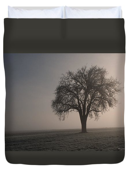 Foggy Morning Sunshine Duvet Cover