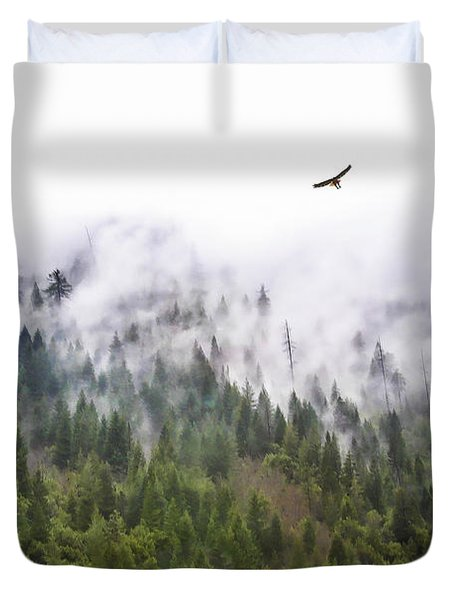 Foggy Mountain Duvet Cover