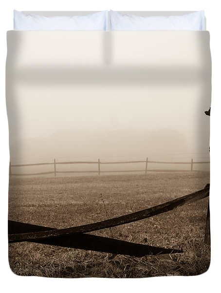 Foggy Pasture Duvet Cover