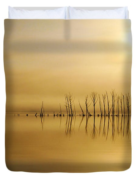 Foggy Rise Duvet Cover by Roger Becker