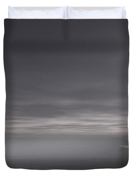 Foggy Stillness Duvet Cover by Lourry Legarde