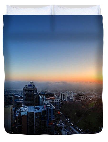 Foggy Sunset Duvet Cover