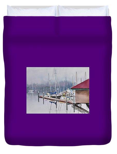 Foggy Dock Duvet Cover