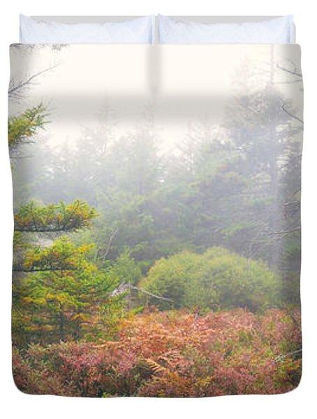 Foliage Fog Panorama Duvet Cover