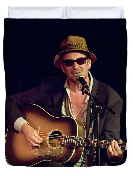 Folk Singer Greg Brown Duvet Cover