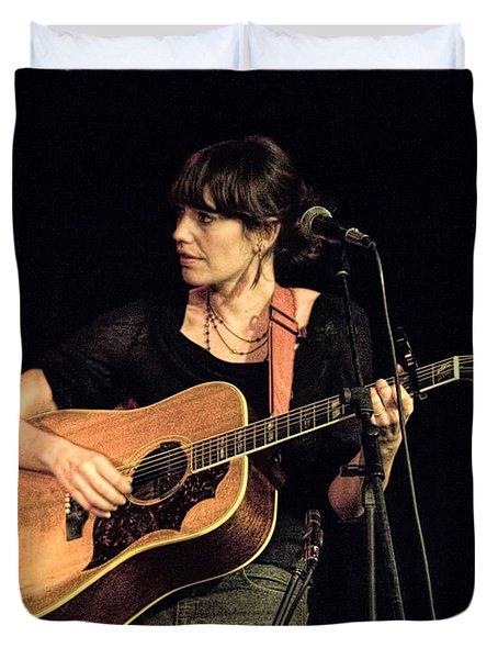 Folk Singer Pieta Brown Duvet Cover