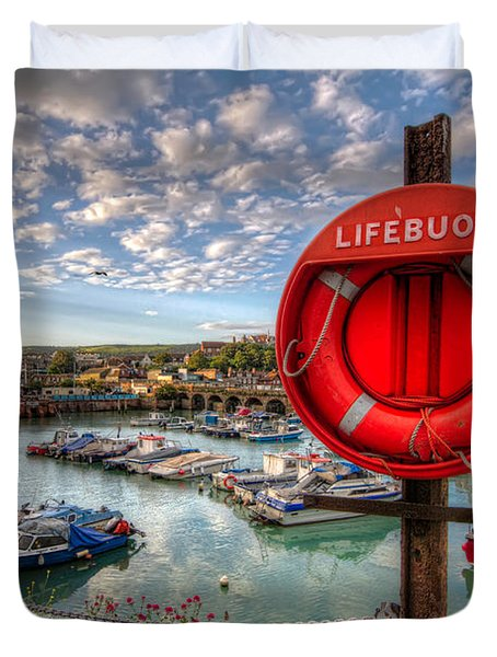 Folkstone Harbour Duvet Cover by Tim Stanley