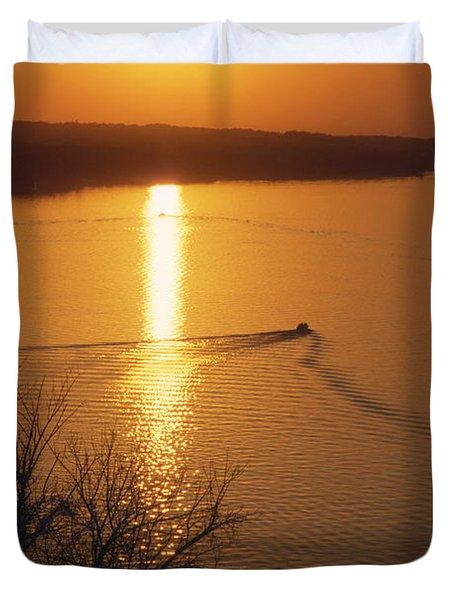 Follow Me Home - Lake Geneva Wisconsin Duvet Cover