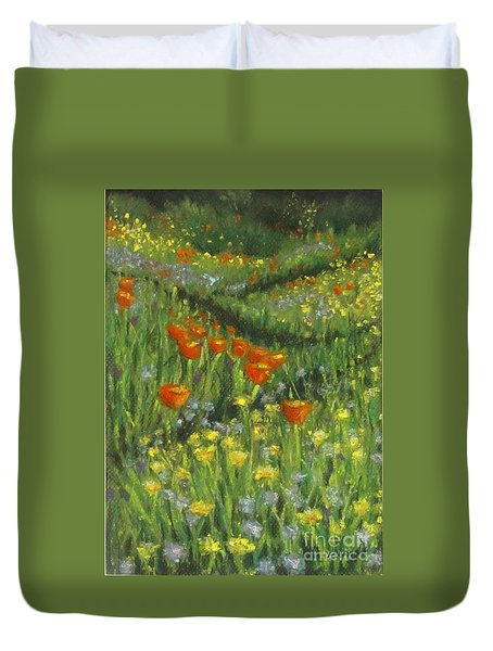 Poppy Trail Duvet Cover