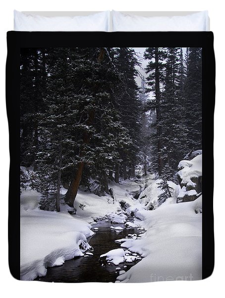Follow The Creek Duvet Cover