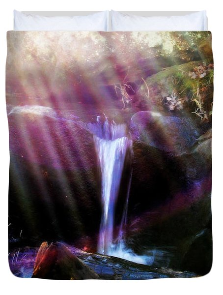 Follow  The Light Duvet Cover by Peggy Franz