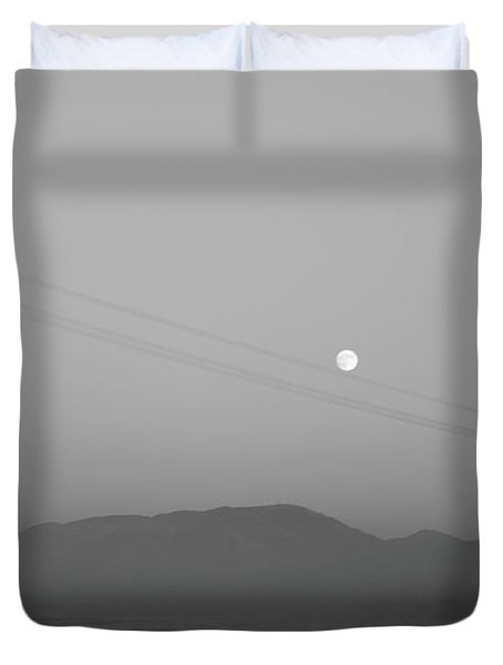 Follow The Moon Duvet Cover