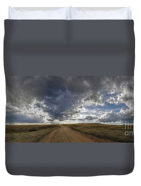 Follow The Road Duvet Cover
