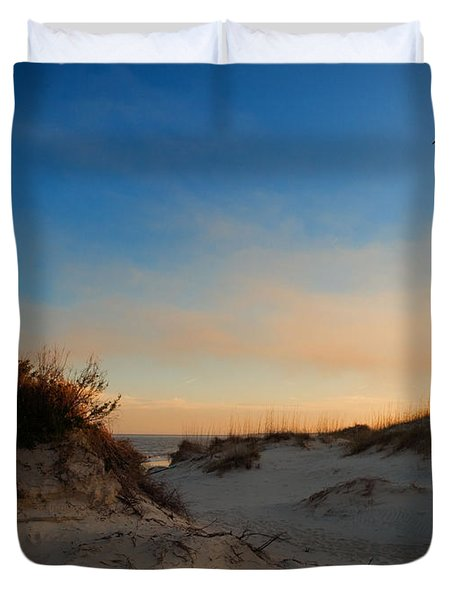 Duvet Cover featuring the photograph Follow Your Dreams by Laura Ragland