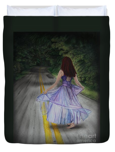 Follow Your Path Duvet Cover by Jackie Mestrom