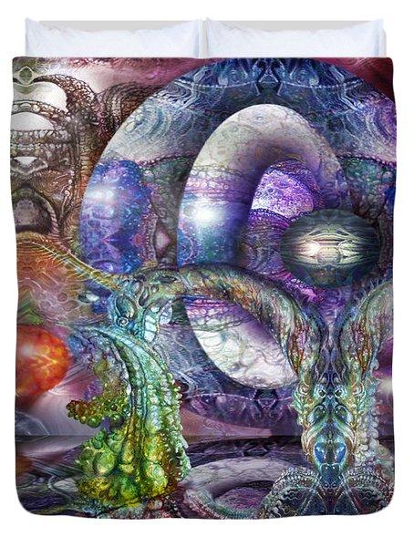 Fomorii Universe Duvet Cover by Otto Rapp