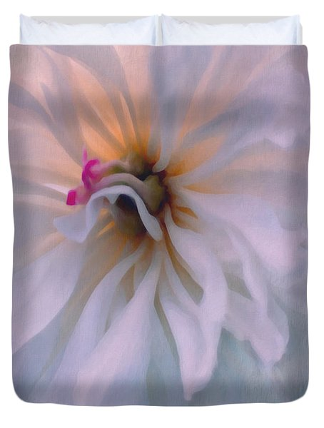 Duvet Cover featuring the photograph Romance by Jean OKeeffe Macro Abundance Art