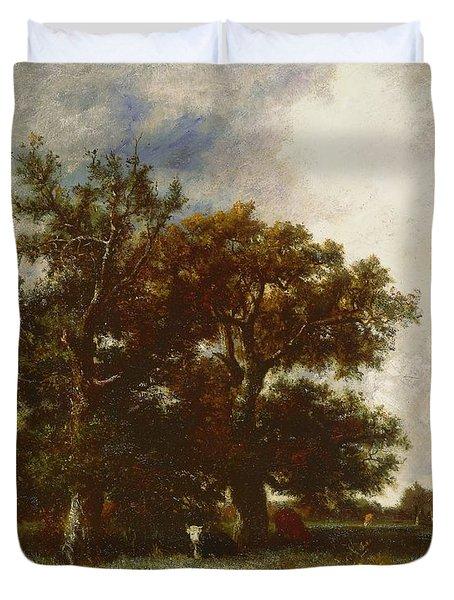 Fontainebleau Oak Duvet Cover by Jules Dupre