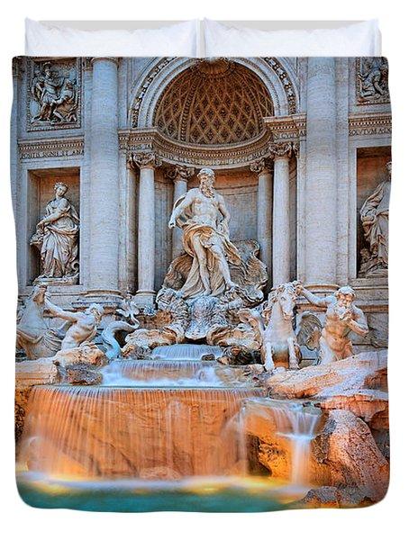 Fontana Di Trevi Duvet Cover by Inge Johnsson