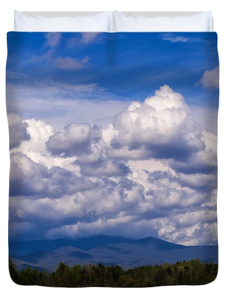 Fontana Lake Storm 2 Duvet Cover by Chris Flees