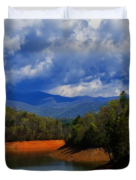 Fontana Lake Storm Duvet Cover