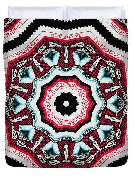 Food Mixer Mandala Duvet Cover by Andy Prendy