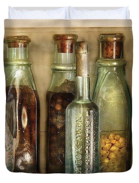 Food - The Ingredients  Duvet Cover by Mike Savad