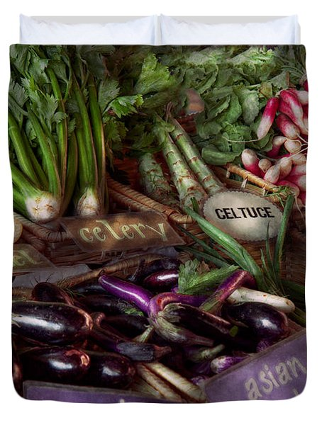 Food - Vegetables - Very Fresh Produce  Duvet Cover by Mike Savad