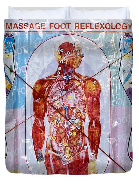 Foot Massage Duvet Cover by Luciano Mortula