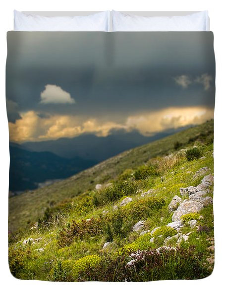 Foot Path Into The French Alps Duvet Cover
