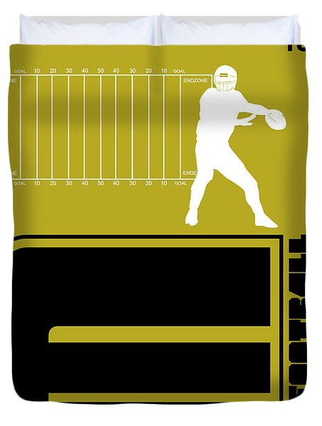 Football Poster Duvet Cover
