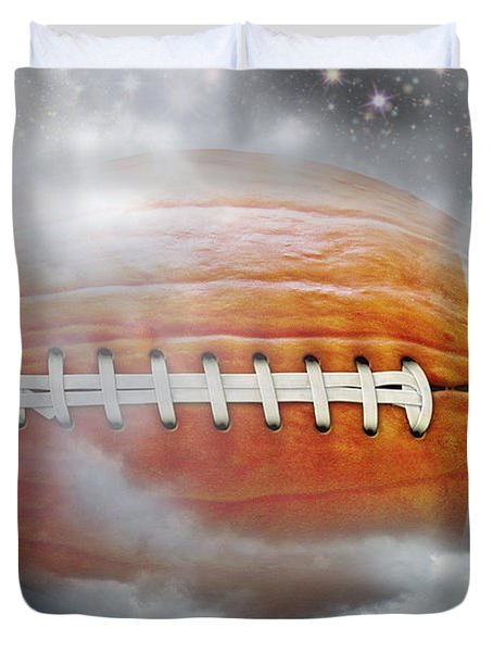Football Pumpkin Duvet Cover
