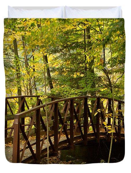 Footbridge At Letchworth Duvet Cover