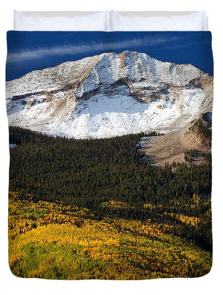 Foothills Of Gold Duvet Cover by Darren  White