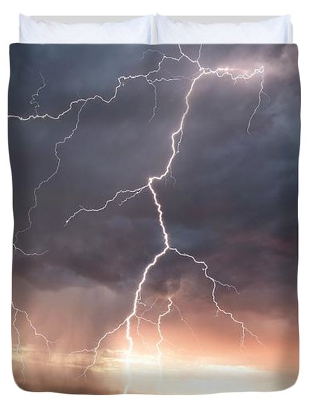 Duvet Cover featuring the photograph Foothills Strike by Brian Spencer