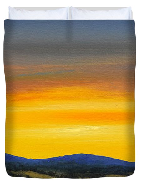Foothills Sunrise Duvet Cover