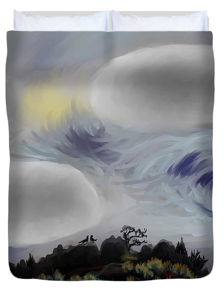 Foothills Sunrise On My Morning Walk Duvet Cover