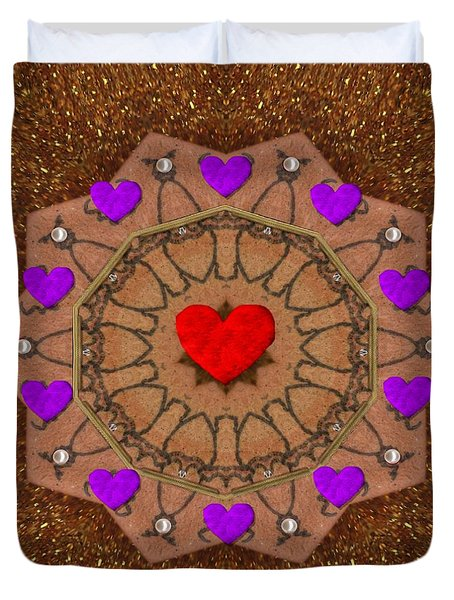 For The Love Of Hearts Duvet Cover by Pepita Selles